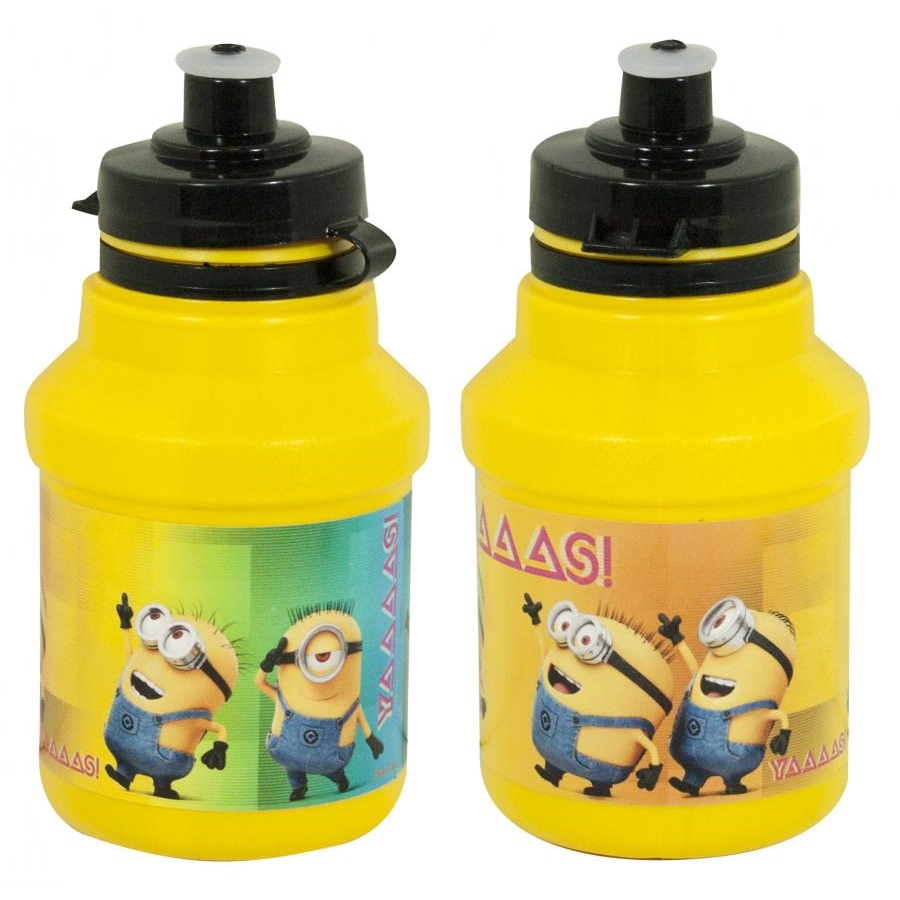 minions bidon 350 ml fahrradflasche gelb mit halter. Black Bedroom Furniture Sets. Home Design Ideas