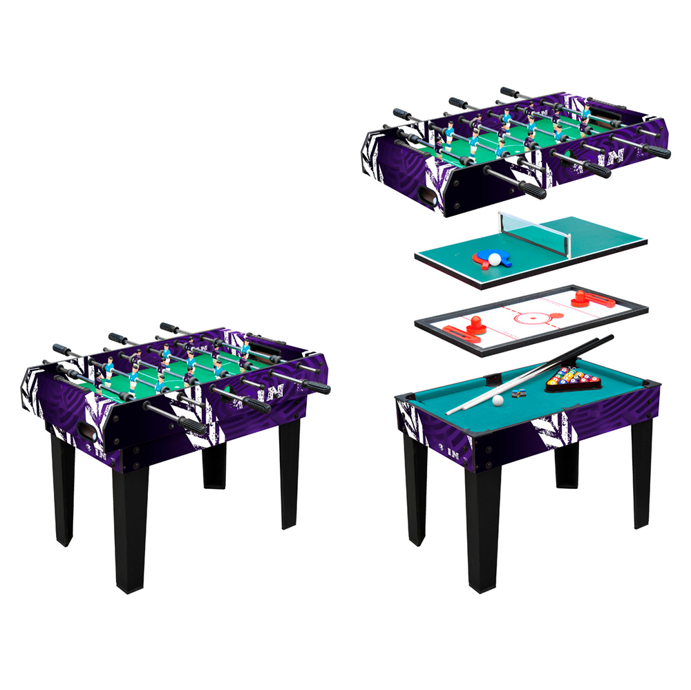 worker 4 in 1 spieltisch insportline. Black Bedroom Furniture Sets. Home Design Ideas