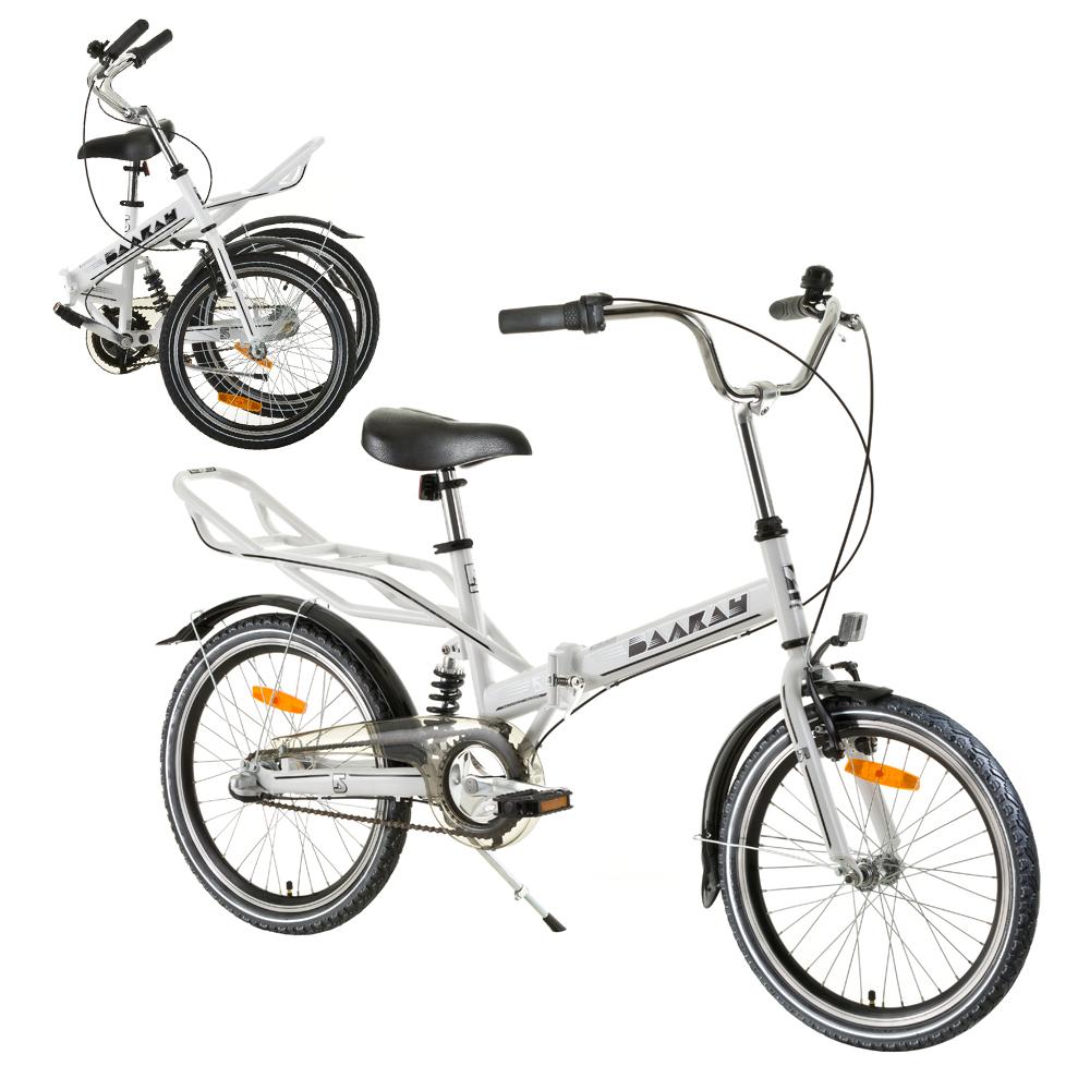 das zusammenklappbare fahrrad reactor comfort 20 wei insportline. Black Bedroom Furniture Sets. Home Design Ideas