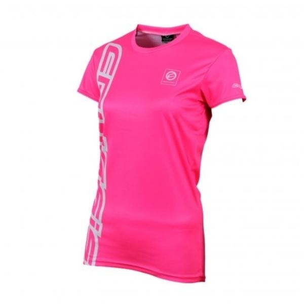 crussis damen shirt mit kurzen rmeln fluo pink insportline. Black Bedroom Furniture Sets. Home Design Ideas