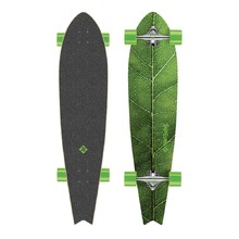 "Longboard Street Surfing Fishtail - The Leaf 42"" - Stříbrný truck"