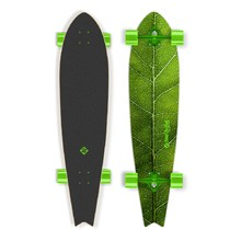"Street Surfing Fishtail - The Leaf 42"" Longboard - Zelený truck"