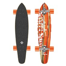 Longboard Street Surfing Kicktail - Damaged Orange 36""