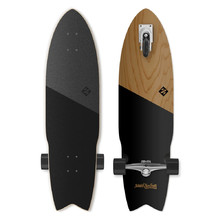 "Street Surfing Shark Attack Koa Black 36"" Longboard"