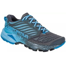La Sportiva Akasha Woman Trail Laufschuhe für Damen - Carbon/Pacific Blue