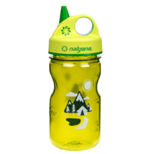 NALGENE Grip´n Gulp 350 ml Kinder-Trinkflasche - Green Trail