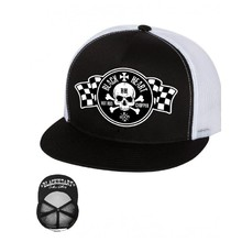 BLACK HEART Start Flag Trucker  Kappe - weiß