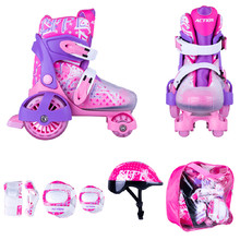 Action Darly Girl Kinderset - violett-weiß