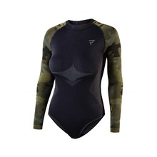 Rebelhorn Freeze Lady BD Damen Thermo  Motorrad Shirt/Body - schwarz-camouflage