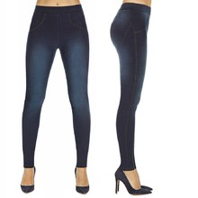 BAS BLEU Maddie Damen Push-Up Leggins - dunkelblau