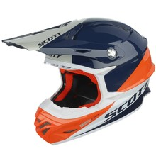Motocrosshelm Scott 350 Pro Trophy - blau-orange