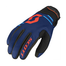 SCOTT 350 Insulated MXVII Motorradhandschuhe - Blue-Orange
