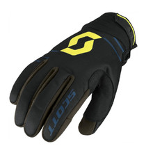 SCOTT 350 Insulated MXVII Motorradhandschuhe - Black-Lime Green