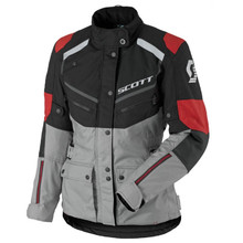 SCOTT W's Turn ADV DP MXVII Damen-Motorradjacke - Black-Light Grey