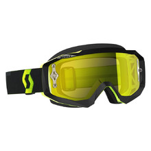 SCOTT Hustle MX CH MXVII Crossbrille - black-fluo yellow-yellow chrome