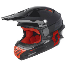 SCOTT 350 Pro MXVII Motocross Helm - Black-Orange