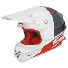 SCOTT 350 Pro Track MXVII Motocross Helm - Weiss-Orange