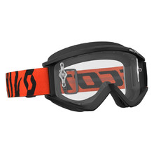 SCOTT Recoil Xi MXVII Clear Crossbrille - black-fluo orange