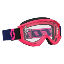 SCOTT Recoil Xi MXVII Clear Crossbrille - blue-fluo pink