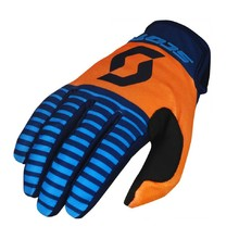 SCOTT 350 Track MXVII Motocross Handschuhe - Blue-Orange