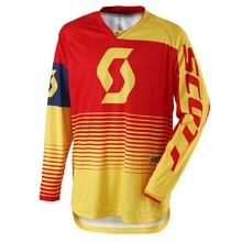SCOTT 350 Track MXVII Motocross Trikot - Yellow-Red