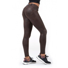 Nebbia Leather Look Bubble Butt 538 Damen Leggings - Brown