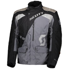 SCOTT Dualraid Dryo Motorradjacke - black/iron grey