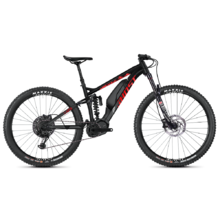 "Ghost Hybride SL AMR S2.7+ AL 29"" Vollgefedertes E-Mountainbike - Modell 2020 - Night Black / Riot Red / Iridium Silver"