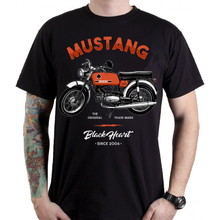 BLACK HEART Mustang T-Shirt - schwarz