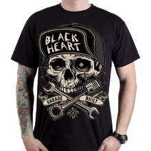 BLACK HEART Garage Built T-Shirt - schwarz
