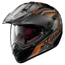 X-Lite X-551 GT Kalahari N-Com Flat Black-Orange Motorradhelm - schwarz-orange