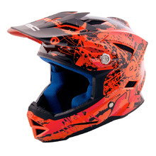 Der Kinder-Downhill-Schutzhelm W-TEC AP-42 - orange-red