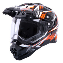 Motocross Helm W-TEC AP-885 Graphic - schwarz-orange