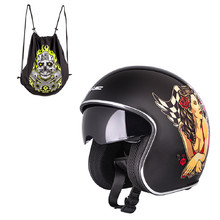 W-TEC V537 Black Heart Motorradhelm - Hot Rod Angel, schwarz blank