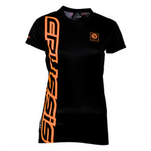 CRUSSIS Damen T-Shirt schwarz-orange - schwarz-orange