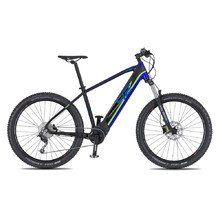 "4EVER Ennyx 3 27,5"" Plus E-Mountainbike - Modell 2020 - schwarz/blau"