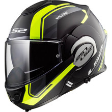 LS2 FF399 Valiant Lumen / H-V Yellow Motorradklapphelm - Line Matt Black H-V Yellow