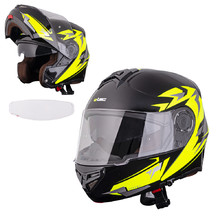 W-TEC Vexamo PI Graphic Klapphelm mit Pinlock - Black Graphic