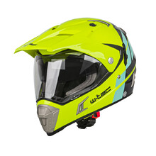 Motorradhelm W-TEC Dualsport - Fluo Yellow-Blue