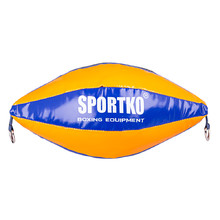 SportKO GP2 Boxsack - orange-blau