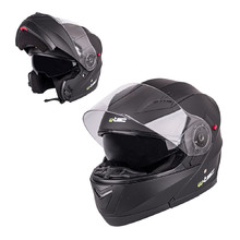 W-TEC YM-925 Klapphelm - Pure Matt Black