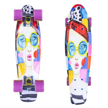 "ArtFish Face 22"" Penny Board"