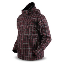 Softshell-Jacke Trimm SWITCH - rot / kariert