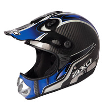AXO MM Carbon Evo Motocross Helm - blau