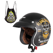 Moto přilba W-TEC V541 Black Heart - Ride Culture, matt schwarz