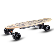 Skatey 150L wood art Elektroskateboard