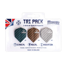 Harrows Carbon Flight Tri Pack Flights Satz