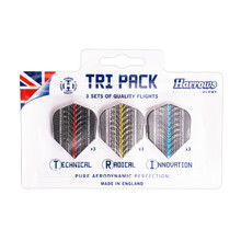 Harrows Supergrip Flight Tri Pack Flights Satz