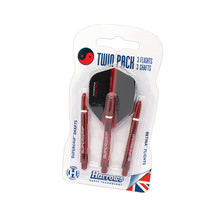 Harrows Twin Pack Medium Schafts und Flights Satz - Rot