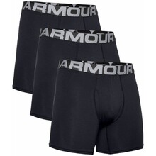 Boxerky Under Armour Charged Cotton 6in 3 Pack - schwarz